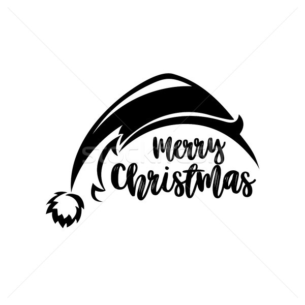 Black santa claus hat vector illustration. Stock photo © Vicasso