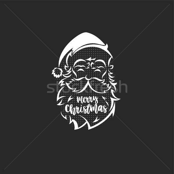 サンタクロース ロゴ 黒 タイポグラフィ デザイン 紙 ストックフォト © Vicasso