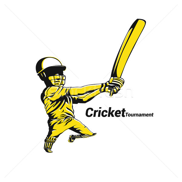 Cricket Australia vector illustration. Stock photo © Vicasso