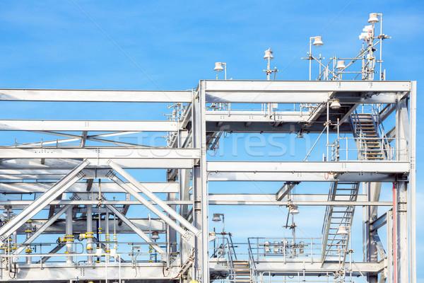 Finomító gyár növény földgáz raktár tank Stock fotó © vichie81