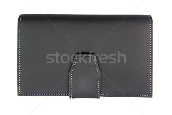 isolated of black fake leather holder notebook Stock photo © vichie81