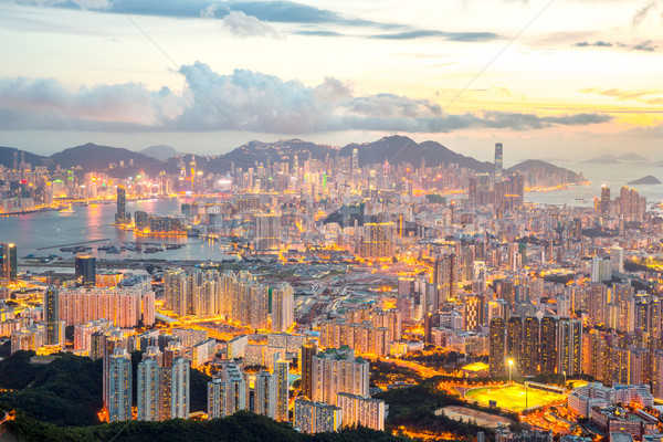 Hong Kong Skyline Kowloon Stock photo © vichie81