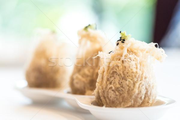 Fried taro dumplings. Stock photo © vichie81