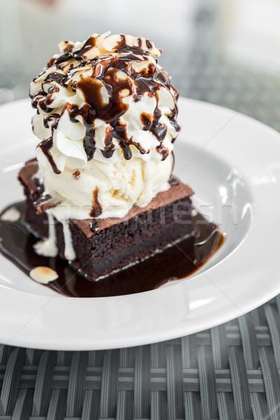Chocolate Brownie Stock photo © vichie81