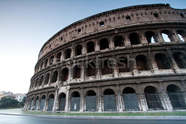 Coliseo Italia arquitectura Roma verano color Foto stock © vichie81