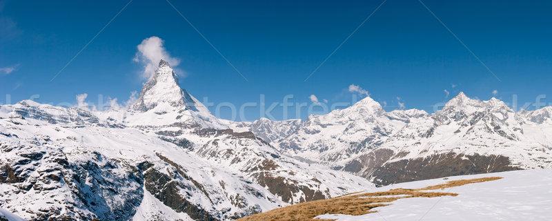 Panorama Matterhorn Switzerland Stock photo © vichie81