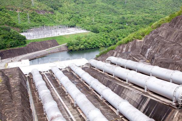 água tubo usina pipes fábrica rio Foto stock © vichie81