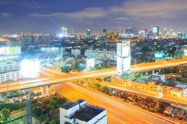 バンコク 道路 タウン ビジネス 空 ストックフォト © vichie81