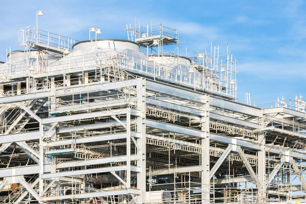 Doğal gaz rafineri fabrika depolama tank yağ Stok fotoğraf © vichie81