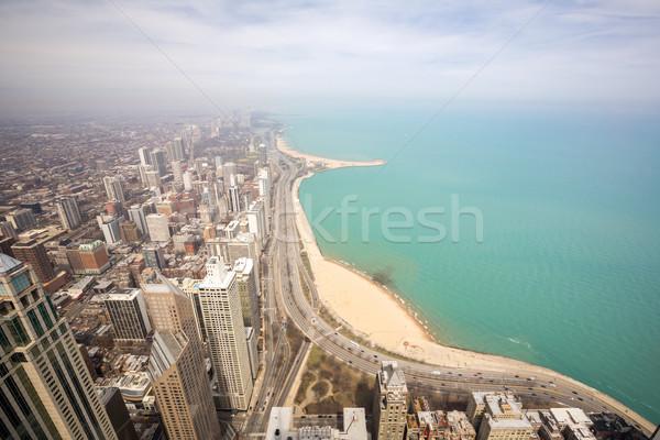 Chicago ville lac Michigan ciel Photo stock © vichie81