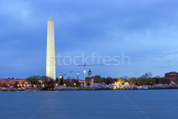 Washington Monument at dusk DC Stock photo © vichie81