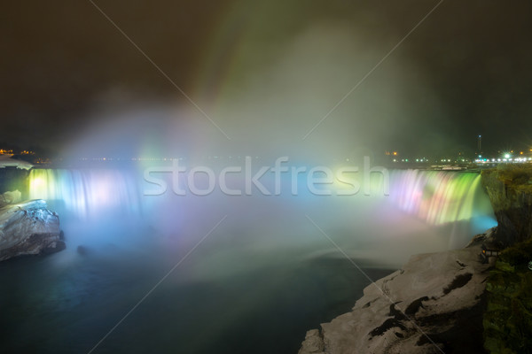 Horseshoe Falls light Niagara Falls Stock photo © vichie81