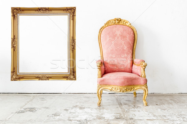 Pink Vintage Chair Stock photo © vichie81