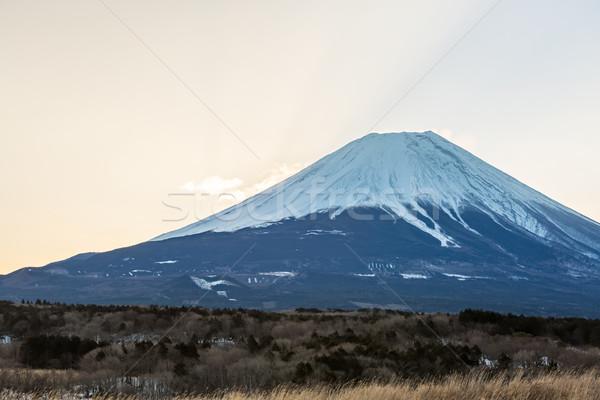 Montanha fuji nascer do sol diamante inverno paisagem Foto stock © vichie81