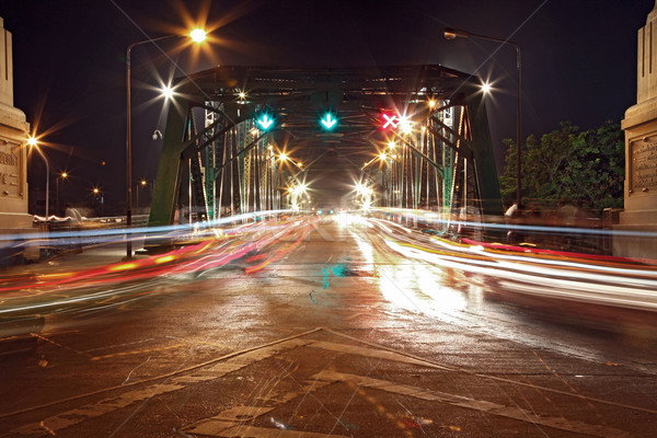свет тропе стали моста Бангкок порт Сток-фото © vichie81