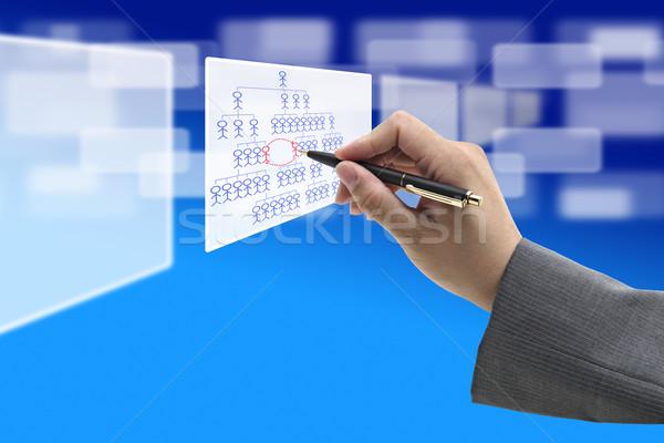 Trabajo rotación negocios mano escrito organización Foto stock © vichie81