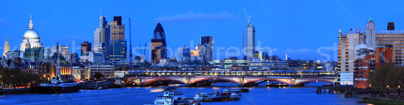 London Panorama at Dusk Stock photo © vichie81