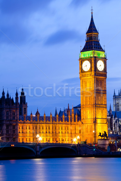 Big Ben London Dusk Stock photo © vichie81