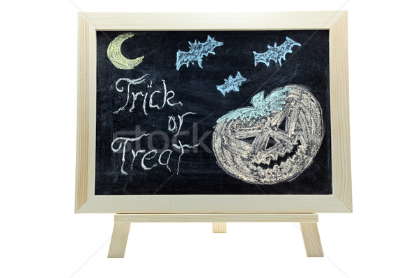 halloween trick or treat drawing Stock photo © vichie81