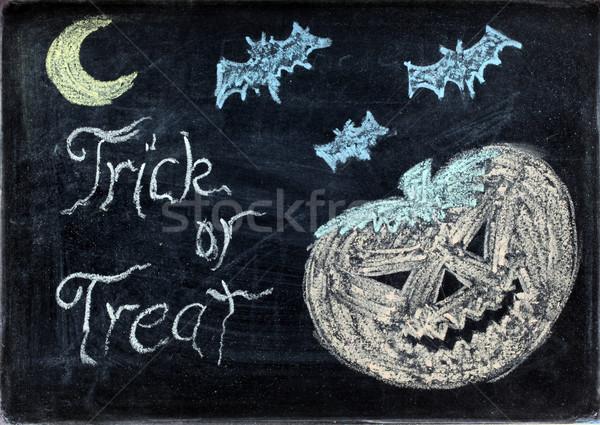 halloween drawing Stock photo © vichie81