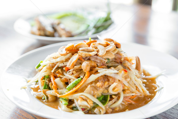 Somtum ,Thai spicy papaya salad ,erve Stock photo © vichie81
