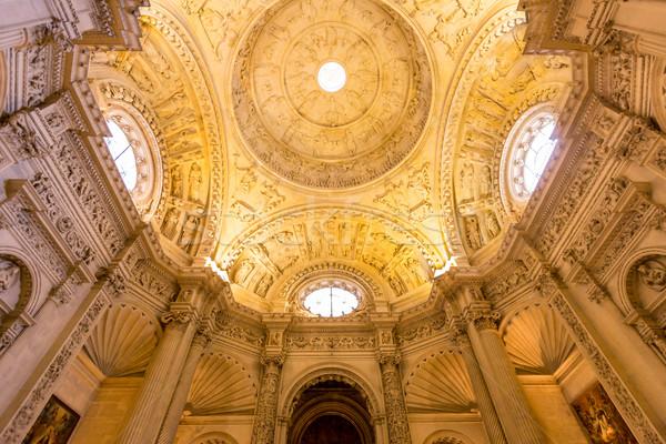 Wnętrza fasada katedry święty świetle świat Zdjęcia stock © vichie81