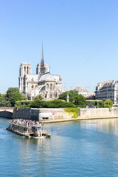 Kathedraal lady Parijs cruise toeristische rivier Stockfoto © vichie81