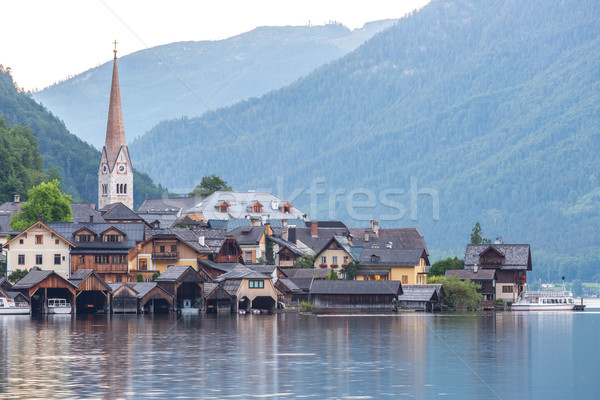 Stock fotó: Falu · Ausztria · klasszikus · kilátás · város · természet