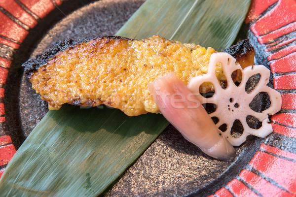 grilled salmon Stock photo © vichie81