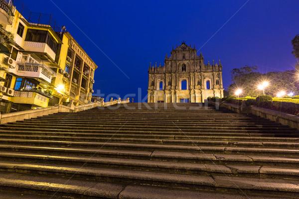 Romok egy legjobb történelmi centrum unesco Stock fotó © vichie81