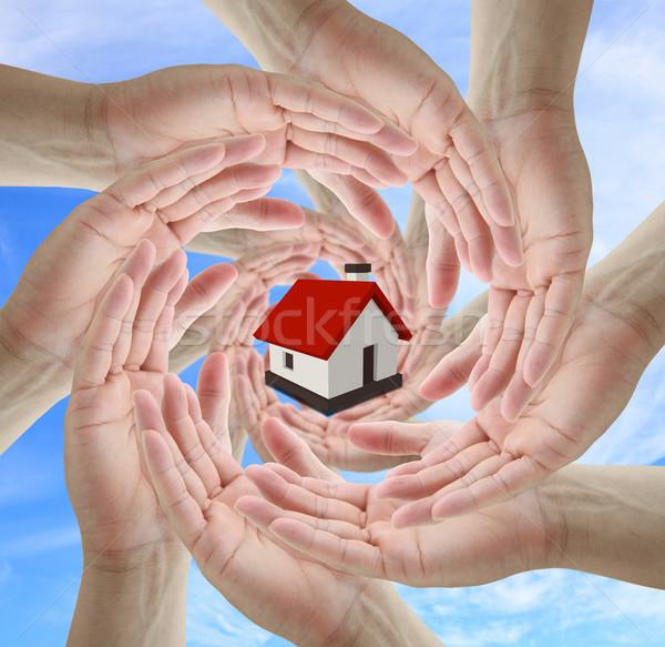 住宅保険 ビジネスチーム 建物 抽象的な ストックフォト © vichie81