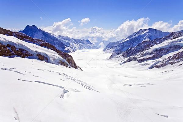 Alpes glacier Suisse magnifique une monde Photo stock © vichie81