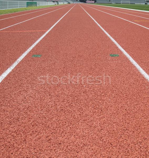 Nézőpont versenypálya függőleges textúra sport mező Stock fotó © vichie81
