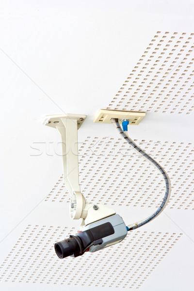 Cctv bewakingscamera veiligheid lan draad Stockfoto © vichie81