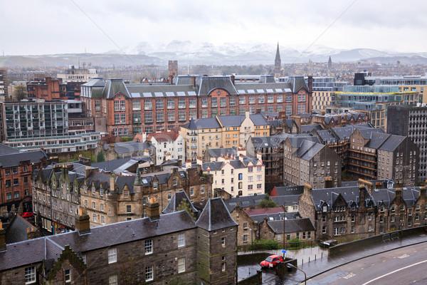 Edinburgh épület Skócia városkép város naplemente Stock fotó © vichie81