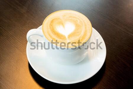 latte coffee Stock photo © vichie81