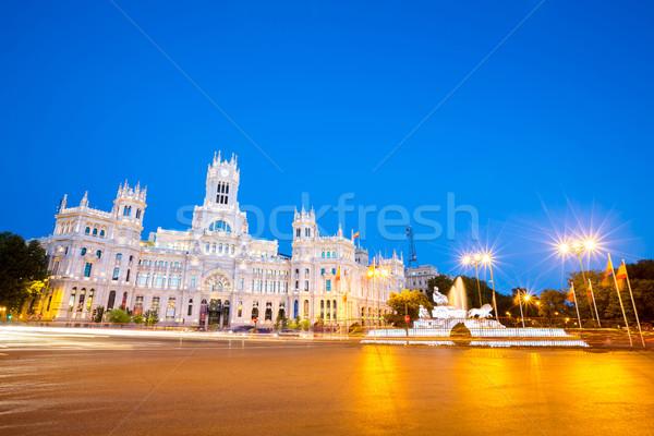 La Madrid carré central bureau de poste Espagne Photo stock © vichie81
