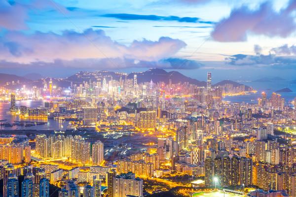 Hong Kong Skyline Kowloon Stock photo © vichie81