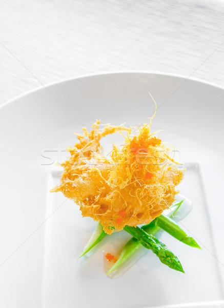 hokkaido scallop with sweet shrimp sauce Stock photo © vichie81