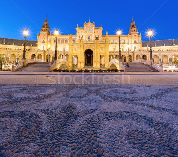 Panorama Espana Square Spain Stock photo © vichie81