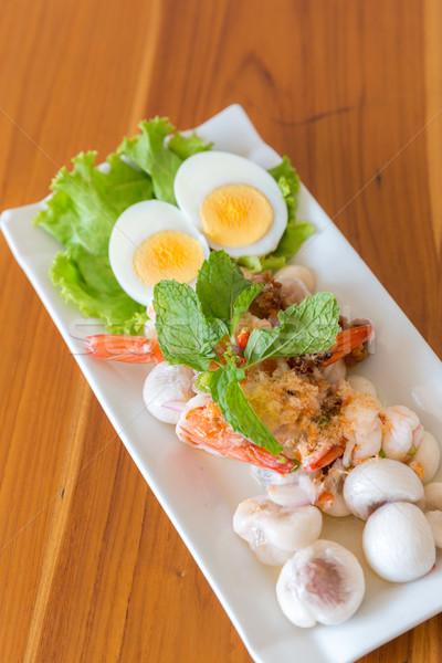 Mangisboom gekruid salade thai ei groene Stockfoto © vichie81