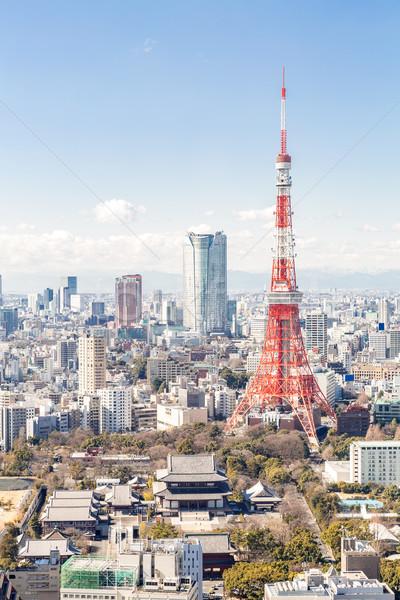 Tokio torre Japón horizonte ciudad puente Foto stock © vichie81