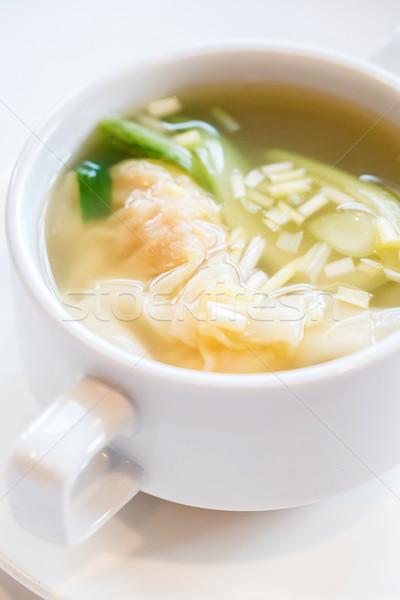 Shrimps Wonton Soup Stock photo © vichie81