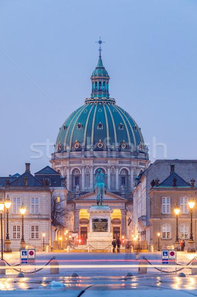 Iglesia ciudad cuadrados edificio ciudad puesta de sol Foto stock © vichie81