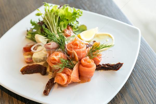 鮭 刺身 サラダ ポテトサラダ 食品 海 ストックフォト © vichie81