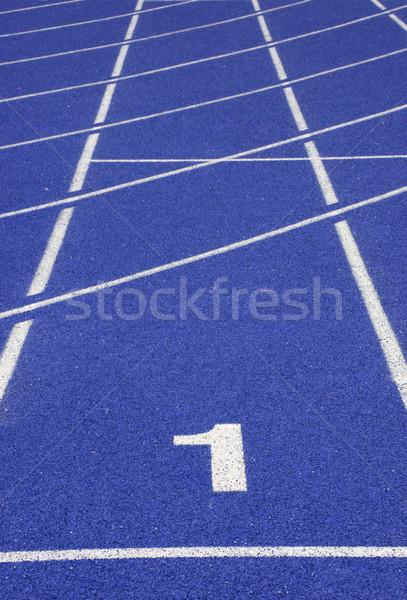 Yarış pisti stadyum doku spor Stok fotoğraf © vichie81