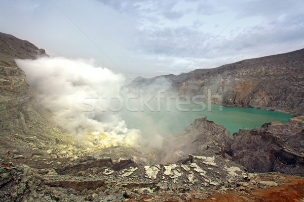 Java isola Indonesia cratere vulcano mine Foto d'archivio © vichie81