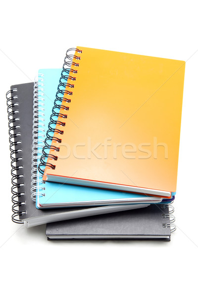 stack of hard cover ring binding note book Stock photo © vichie81