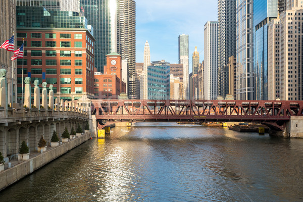 Chicago downtown river Stock photo © vichie81