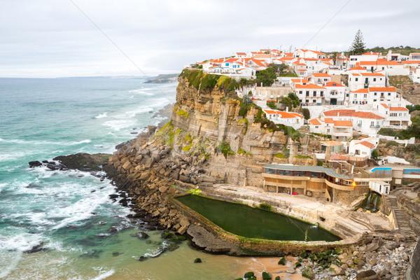 Сток-фото: деревне · Португалия · пляж · воды · солнце · пейзаж